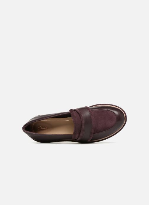 Loafers Clarks Alexa Ruby Purple view from the left