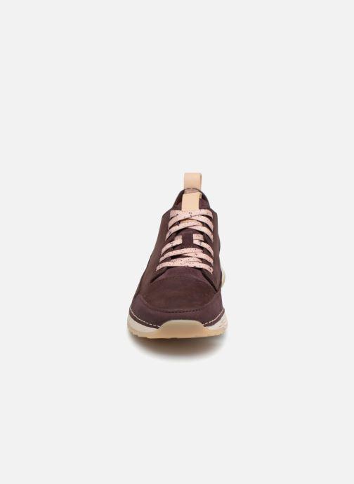 Baskets Clarks Tri Spark. Violet vue portées chaussures
