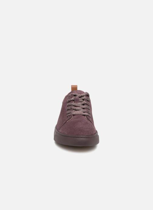 Baskets Clarks Glove Echo Violet vue portées chaussures