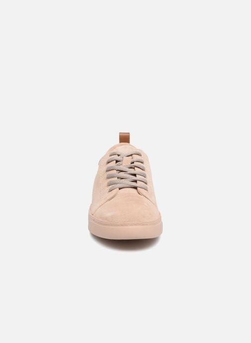 Baskets Clarks Glove Echo Rose vue portées chaussures