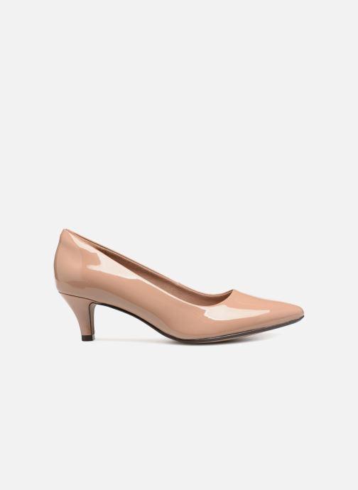 Zapatos de tacón Clarks Linvale Jerica Beige vistra trasera