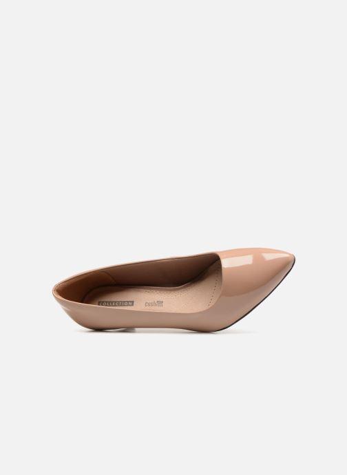 Zapatos de tacón Clarks Linvale Jerica Beige vista lateral izquierda