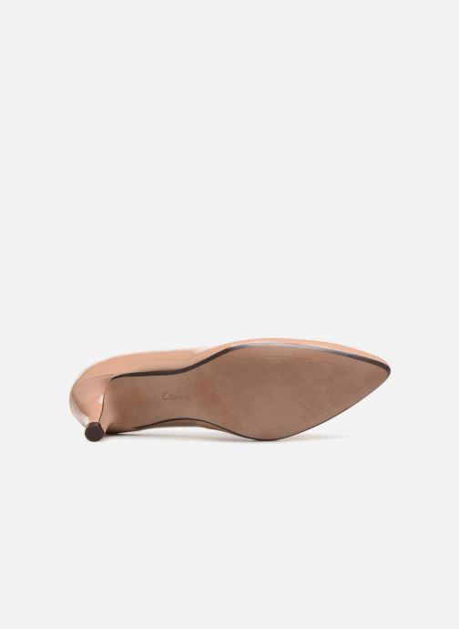 Zapatos de tacón Clarks Linvale Jerica Beige vista de arriba
