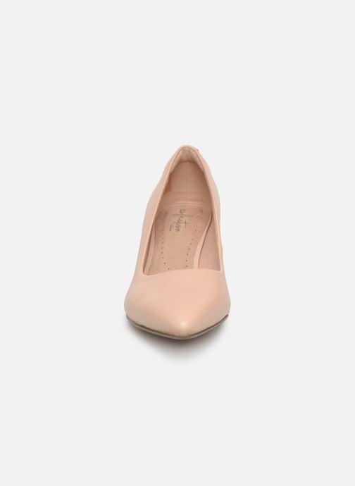 Escarpins Clarks Linvale Jerica Beige vue portées chaussures