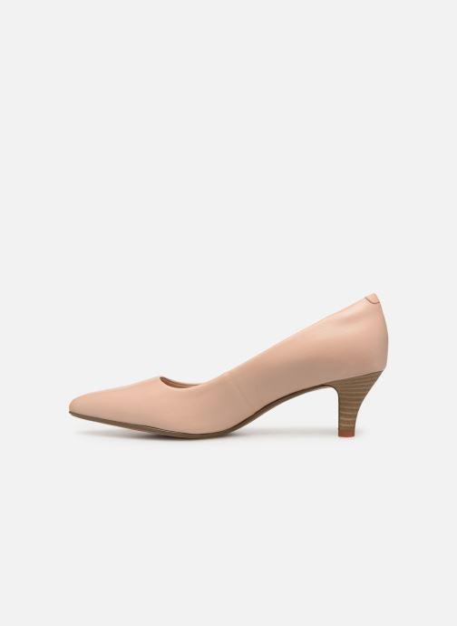 Zapatos de tacón Clarks Linvale Jerica Beige vista de frente