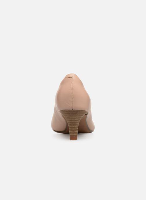 Zapatos de tacón Clarks Linvale Jerica Beige vista lateral derecha