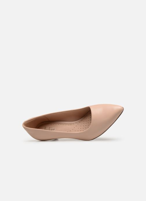 High heels Clarks Linvale Jerica Beige view from the left