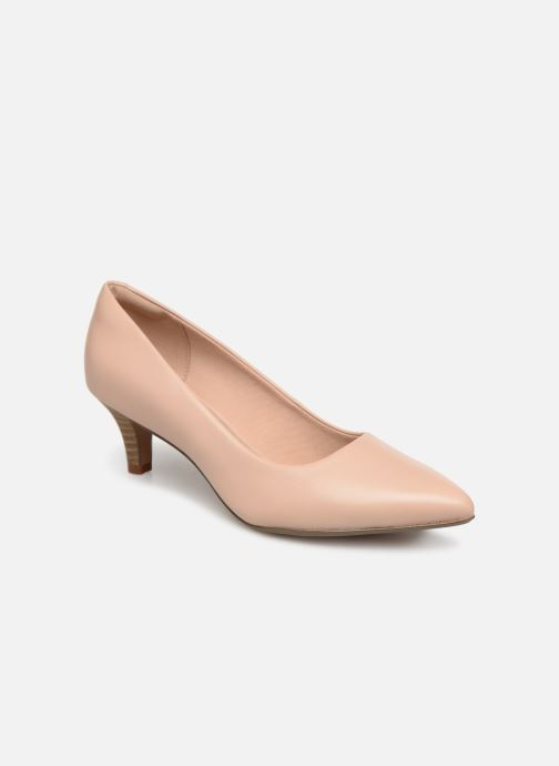 High heels Clarks Linvale Jerica Beige detailed view/ Pair view