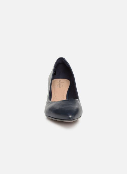 Escarpins Clarks Linvale Jerica Bleu vue portées chaussures