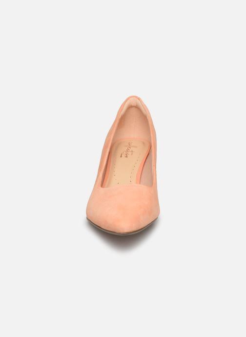 Escarpins Clarks Linvale Jerica Rose vue portées chaussures
