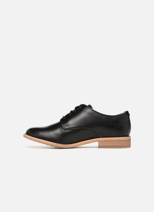 Chaussures à lacets Clarks Edenvale Ash Noir vue face