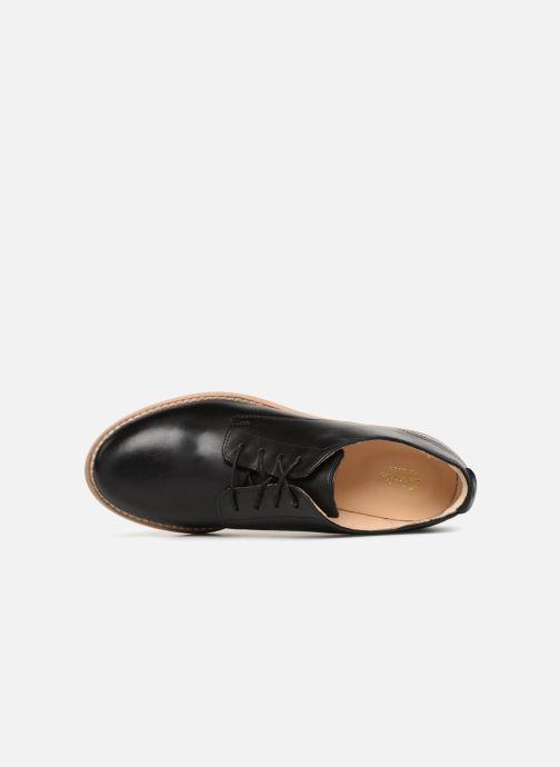 Chaussures à lacets Clarks Edenvale Ash Noir vue gauche