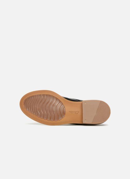 Chaussures à lacets Clarks Edenvale Ash Noir vue haut