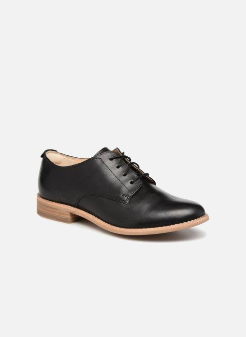 Lace-up shoes Clarks Edenvale Ash Black detailed view/ Pair view