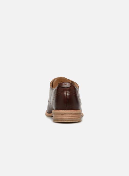 Zapatos con cordones Clarks Edenvale Ash Marrón vista lateral derecha