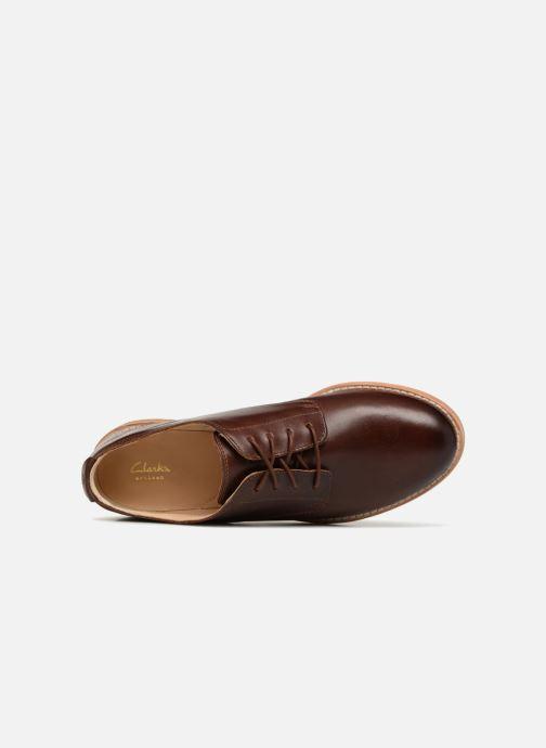 Snörade skor Clarks Edenvale Ash Brun bild från vänster sidan