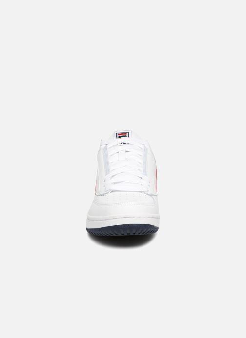 Baskets FILA T1 Mid 2 Blanc vue portées chaussures