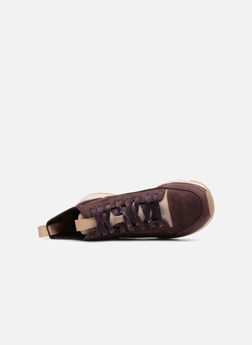 Sneaker Clarks Tri Free lila ansicht von links