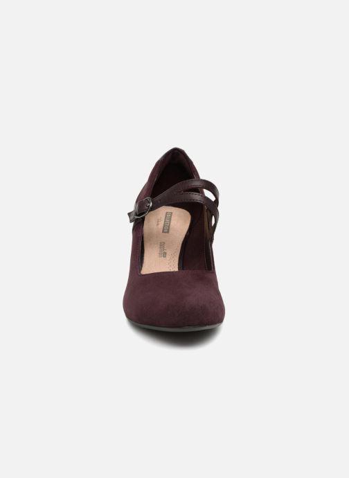 Escarpins Clarks Dancer Reece Bordeaux vue portées chaussures