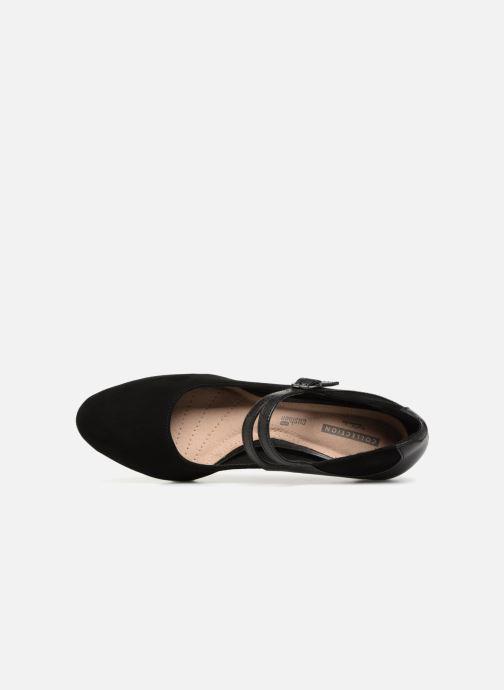 Zapatos de tacón Clarks Dancer Reece Negro vista lateral izquierda
