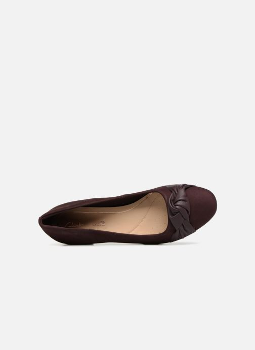 High heels Clarks Orabella Lily Purple view from the left