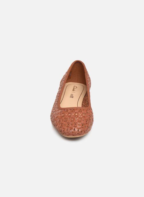 High heels Clarks Orabella Alice Brown model view