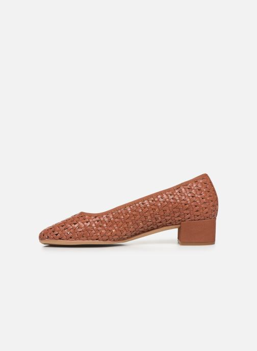 High heels Clarks Orabella Alice Brown front view