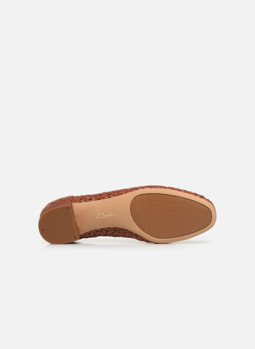 High heels Clarks Orabella Alice Brown view from above