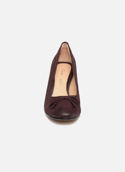 Escarpins Clarks Grace Nina Violet vue portées chaussures
