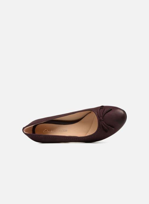 Zapatos de tacón Clarks Grace Nina Violeta      vista lateral izquierda