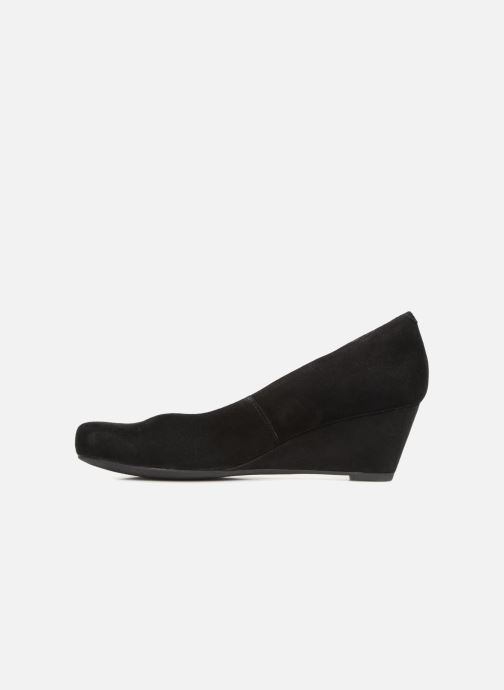 Zapatos de tacón Clarks Flores Tulip Negro vista de frente