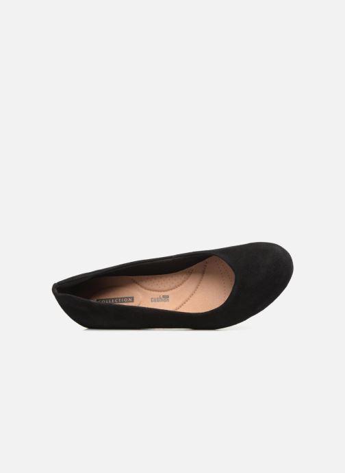 Zapatos de tacón Clarks Flores Tulip Negro vista lateral izquierda