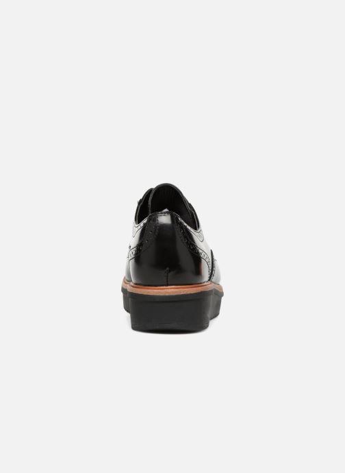 Snörade skor Clarks Teadale Maira Svart Bild från höger sidan