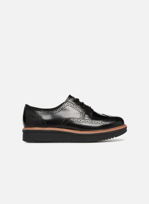 Snörade skor Clarks Teadale Maira Svart bild från baksidan