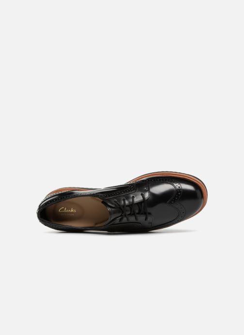 Snörade skor Clarks Teadale Maira Svart bild från vänster sidan
