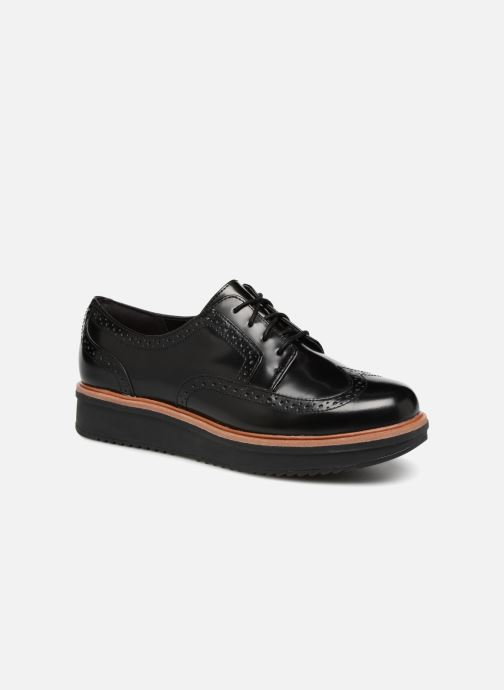 Snörade skor Clarks Teadale Maira Svart detaljerad bild på paret