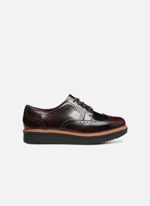 Snörade skor Clarks Teadale Maira Lila bild från baksidan