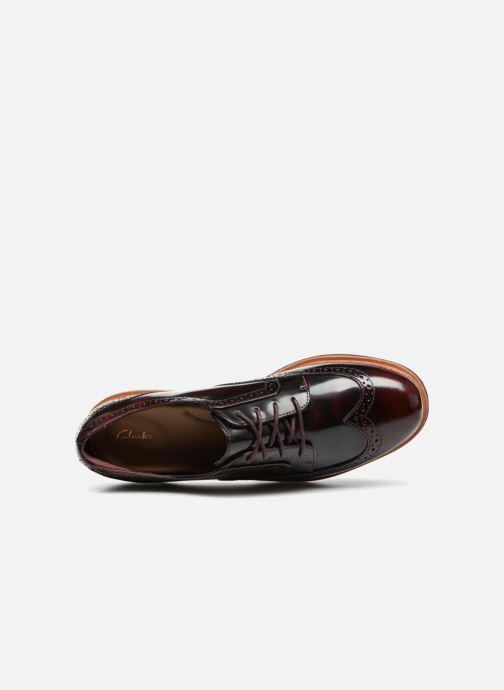 Snörade skor Clarks Teadale Maira Lila bild från ovan