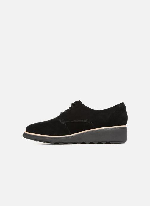 Chaussures à lacets Clarks Sharon Noel Noir vue face