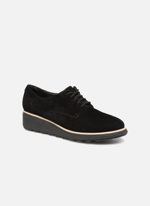 Lace-up shoes Clarks Sharon Noel Black detailed view/ Pair view