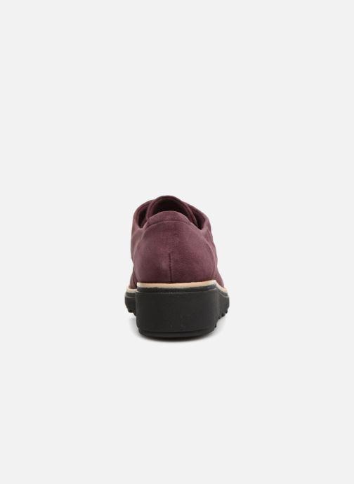 Zapatos con cordones Clarks Sharon Noel Vino vista lateral derecha