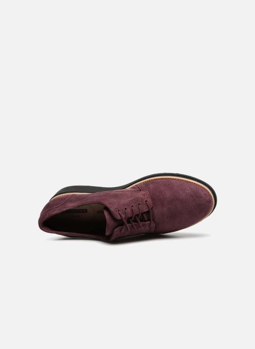 Zapatos con cordones Clarks Sharon Noel Vino vista lateral izquierda