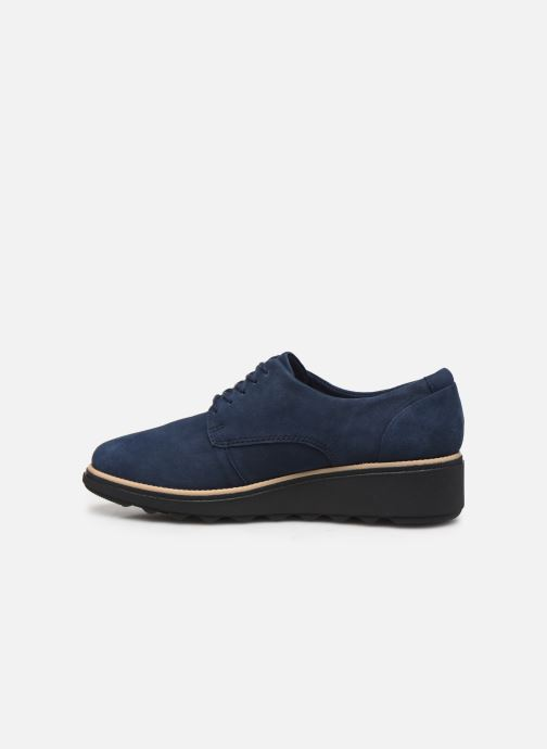 Lace-up shoes Clarks Sharon Noel Blue front view