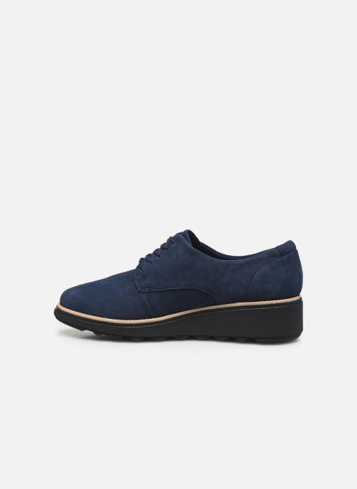 Zapatos con cordones Clarks Sharon Noel Azul vista de frente