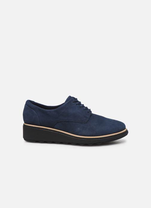 Zapatos con cordones Clarks Sharon Noel Azul vistra trasera