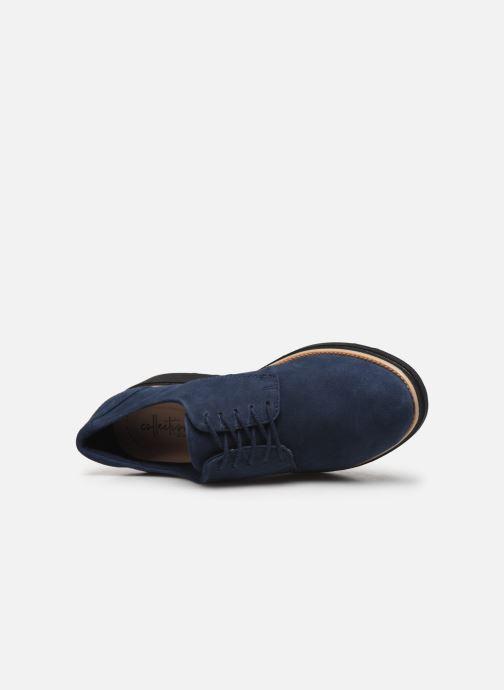 Zapatos con cordones Clarks Sharon Noel Azul vista lateral izquierda
