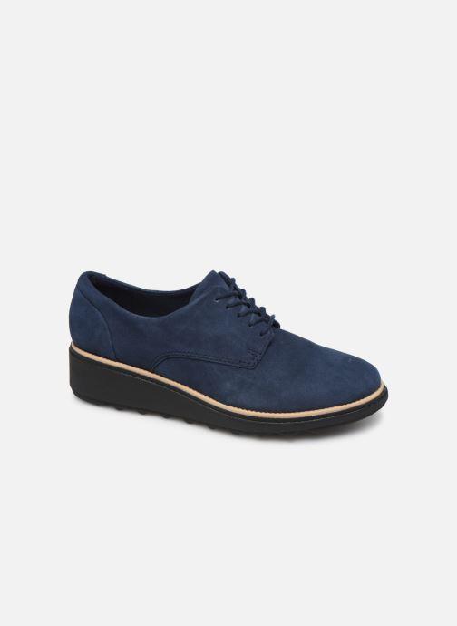 Chaussures à lacets Clarks Sharon Noel Bleu vue détail/paire