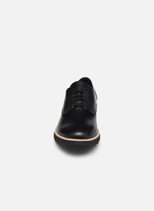 Schnürschuhe Clarks Sharon Noel schwarz schuhe getragen