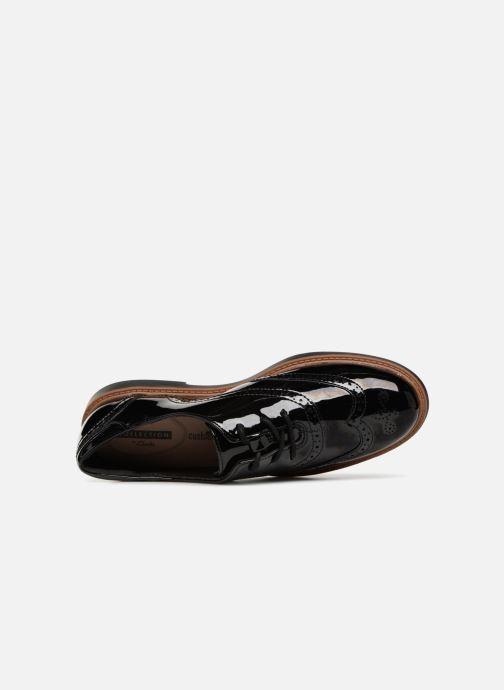 Zapatos con cordones Clarks Raisie Hilde Negro vista lateral izquierda