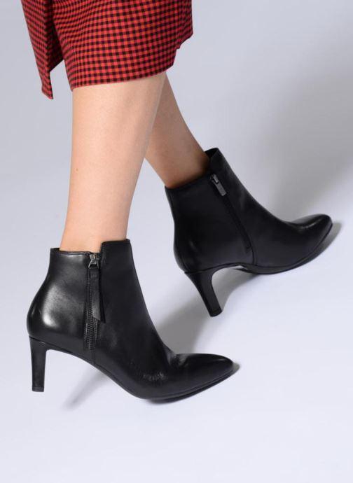 Bottines et boots Clarks Calla Blossom Noir vue bas / vue portée sac